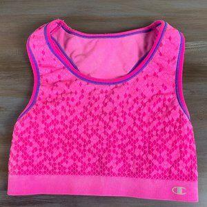 Champion Sports Bra Hot Pink Medium